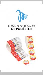 Equip 3000 fabricación de etiquetas adhesivas 3M de poliéster para múltiples aplicaciones
