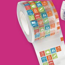 : Impresión de etiquetas adhesivas 3M decorativas en Equip 3000 Barcelona