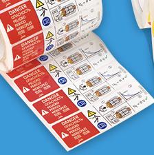 Impresión de etiquetas adhesivas 3M de poliéster en Equip 3000 Barcelona