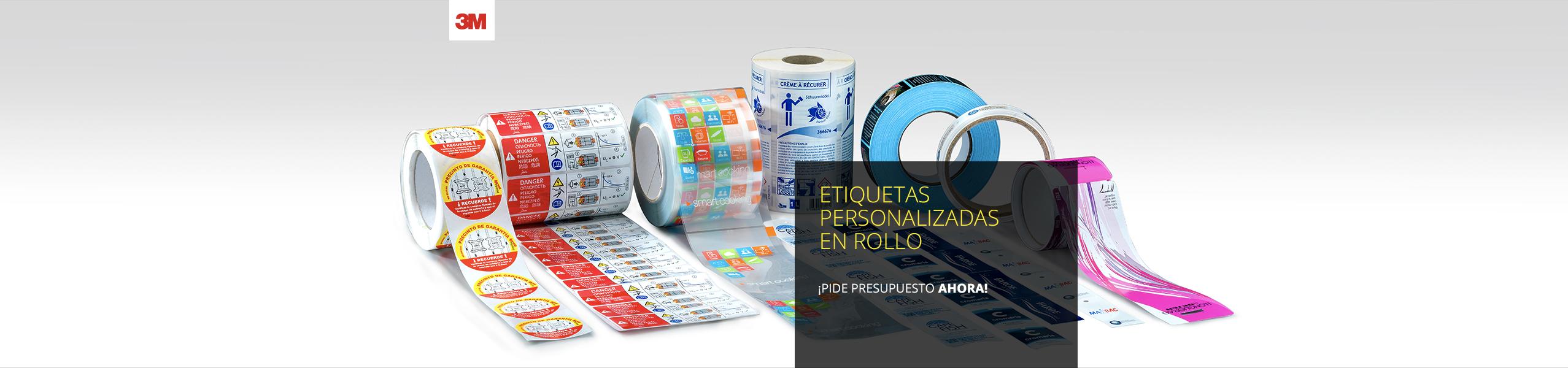 Impresión de etiquetas adhesivas en rollo para todo tipo de sectores y aplicaciones