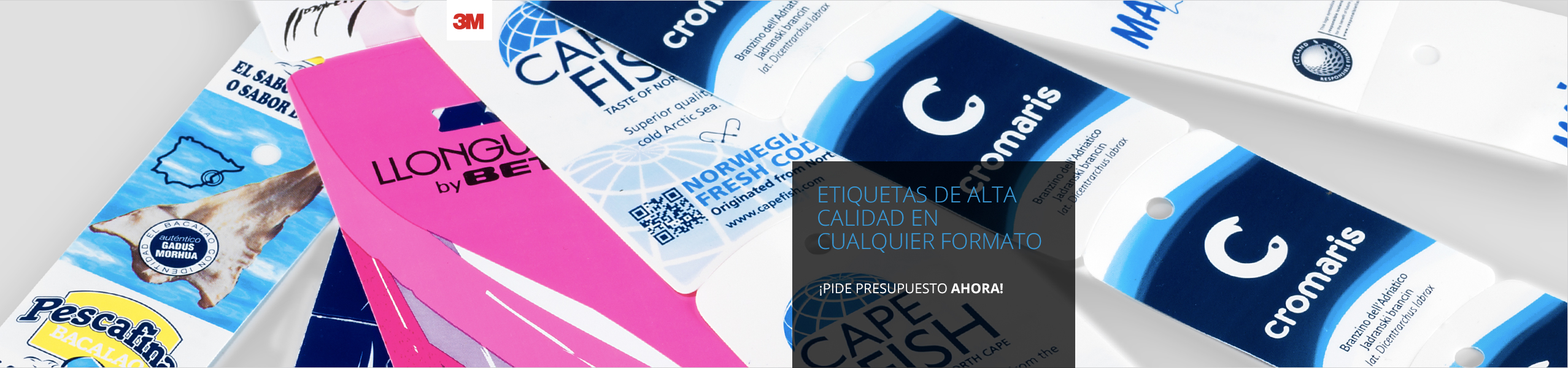 Impresión de etiquetas personalizadas adhesivas y no adhesivas para todo tipo de productos y envases